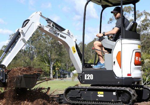 bobcat excavator rental
